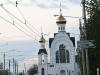 Diese Kirche ist neu für Olga ... und leider nicht ohne O-Bus-Leitung zu fotografieren +++ Эта церковь была для Ольги новой, но сфотографировать её без троллейбусных проводов было невозможно