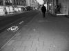 Eine leere Straße ... ein einheimischer Geist auf dem Weg ins Nirgendwo.