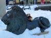 Plauen (Vogtland): ich freunde mich mit einem Löwen an. Ist ja auch nichts weiter als eine große Schmusekatze :)