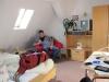 Unser Zimmer am Morgen vor der Abreise