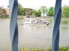Ein Blick auf die Oder in Breslau