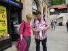 In Krakau angekommen: Kasia und Carsten entscheiden über unsere Wege während Rafal und ich Fotos machen.
