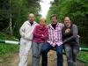 Ein neuer Tag: Unser Gruppenfoto in einem Wald zwischen Krakau und Auschwitz