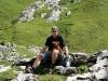 Carsten und Großer Dinkelmann gönnen sich eine Pause beim Aufstieg