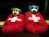 Im Verkehrshaus von Luzern gab es echte schweizer Schlappen. Nur die Größe war etwas zu großzügig bemessen