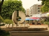 Der zweite Leuchtbrunnen am Neustädter Markt (Innere Neustadt) ist leider ohne Wasser