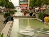 Pusteblumen & Drewag-Brunnen auf der Prager Straße (Seevorstadt)