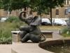 Elefantennahaufnahme vom Sarrasani-Brunnen, Sarrasanistraße (Innere Neustadt)