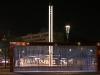 Wasservorhang auf dem Postplatz (Innere Altstadt) mit Wasser und bei Nacht (Zuarbeit)