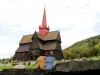 Hein und Kl. Dinkelmann haben sich in die Stabkirchen verguckt. Diese hier steht in Ringebu.