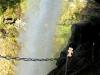 Heini machte hinter dem Wasserfall Storseterfossen den entspanntesten Eindruck