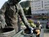 In der Stadt Ålesund konnten sich die beiden kleinen Bären beim Fischkauf von einer kundigen Fischerfrau beraten lassen.