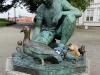 In Stavanger wollten Kl. Dinkelmann und Heini versuchen, Nils Holgerssons Reise nachzumachen, aber diese Enten waren nicht flugtauglich.