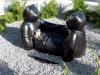 In Kristiansand betreibt man eine Art von Bärenkult. Allein die Form der Sitzbank ist der beste Beweis dafür.