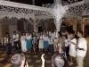 Es gab immer wieder Gesangseinlagen der verschiedenen Lager: ein ständiger Musikbattle zwischen Frankreich und Uruguay, hier zeigen die Ukrainer eine Probe ihres Liedgutes