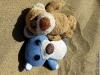 Wir haben uns so benommen, wie es jeder Urlaubär macht und uns auf dem warmen Sand zum Sonnen hingelegt.