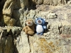 Eine kleine Kletterpause mit sooooooo schöner Aussicht.
