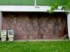 An dieser Stelle nur eines der zahlreichen Bildnisse an Plattenbauten in Chemnitz. Sport hatte im Sozialismus immer einen sehr hohen Stellenwert.