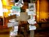 Natürlich dienen Schilder nicht nur Verboten und Hinweisen ... wie hier auf der Insel Gili Air werden sie auch sehr gerne für Werbezwecke genutzt
