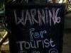 Gili Air war eine wahre Fundgrube für Schilder aller Art ... hier werden den Touristen die vorherrschenden Benimmregeln sehr klar präsentiert